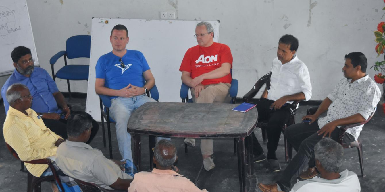 AON and ETHERISC partners in discussion with farmer organization representatives